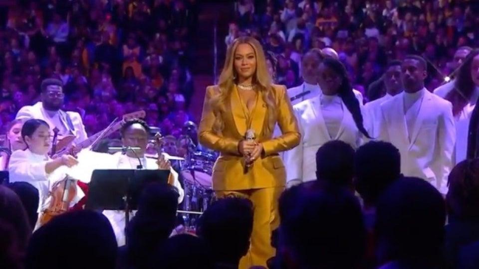 Beyoncé Opens Kobe Bryant and Gianna's Memorial Service
