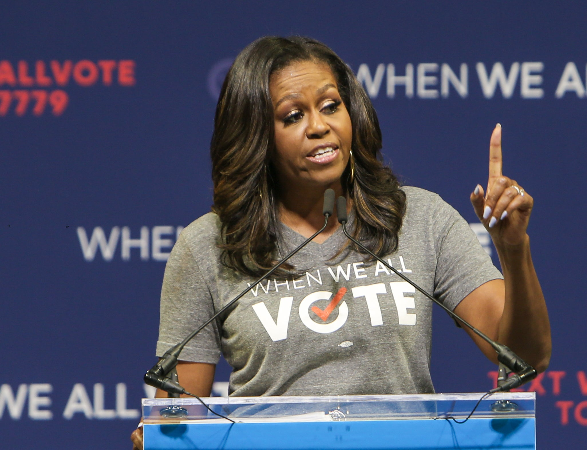 First Lady Michelle Obama makes push to register voters for Election Day 2020