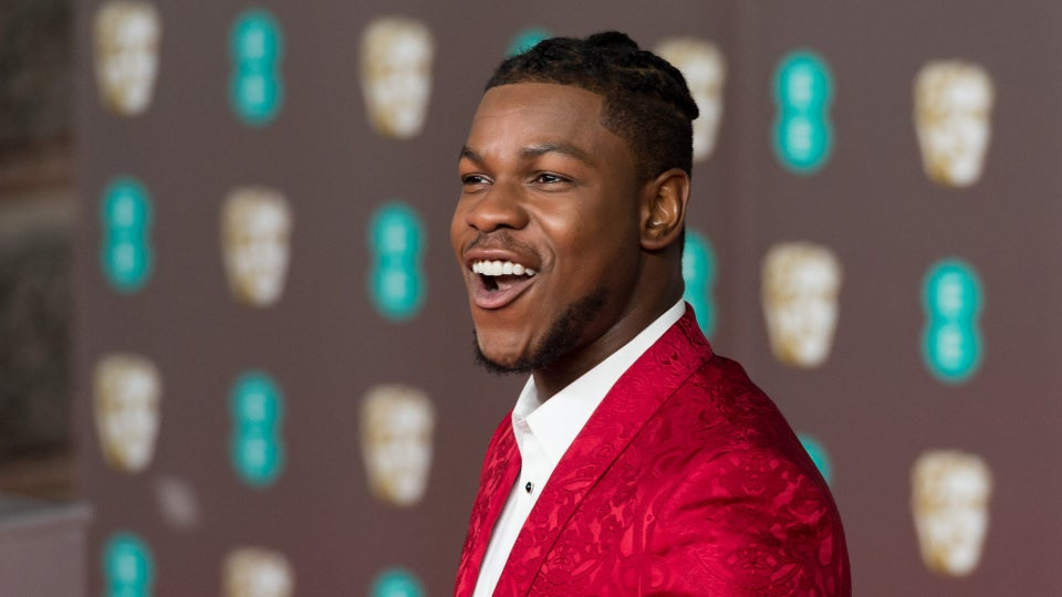 Daniel Kaluuya And John Boyega Share Warm Welcome On EE BAFTAs Red Carpet