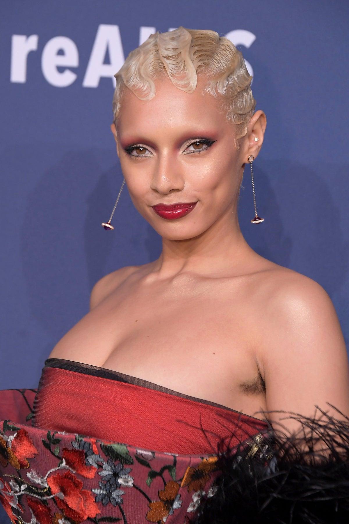 Jazzelle Zanaughtti at The 2020 amfAR New York Gala