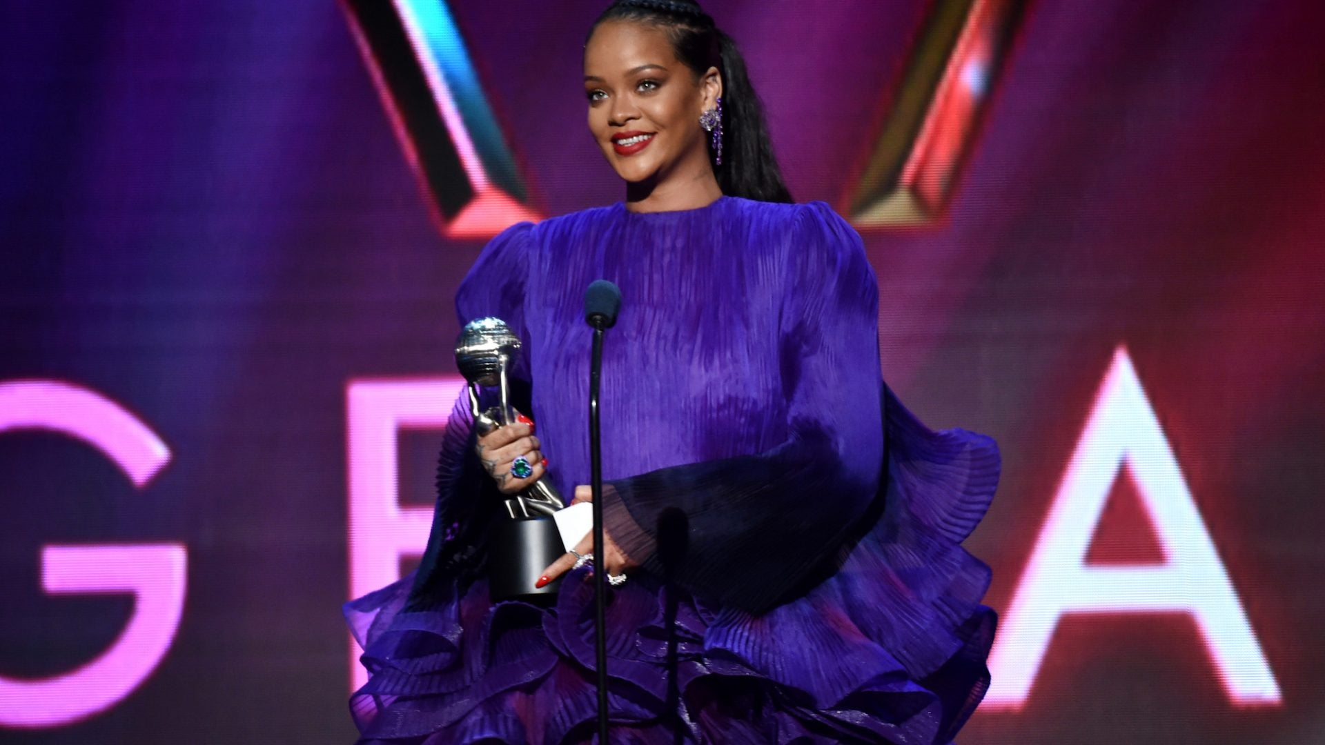Image result for Rihanna Gives Powerful Speech At The 2020 NAACP Image Awards