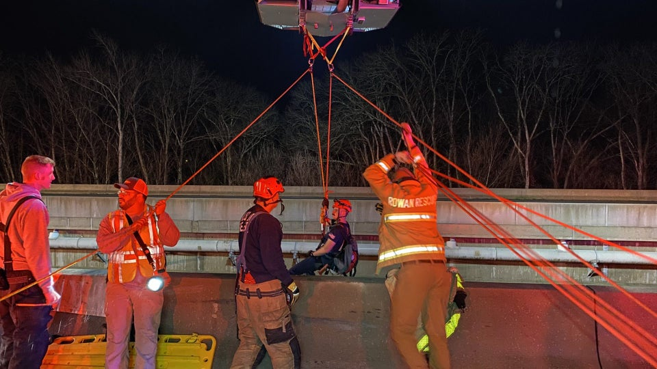 FedEx Worker Survives 75-Foot Fall Off Of Highway Bridge