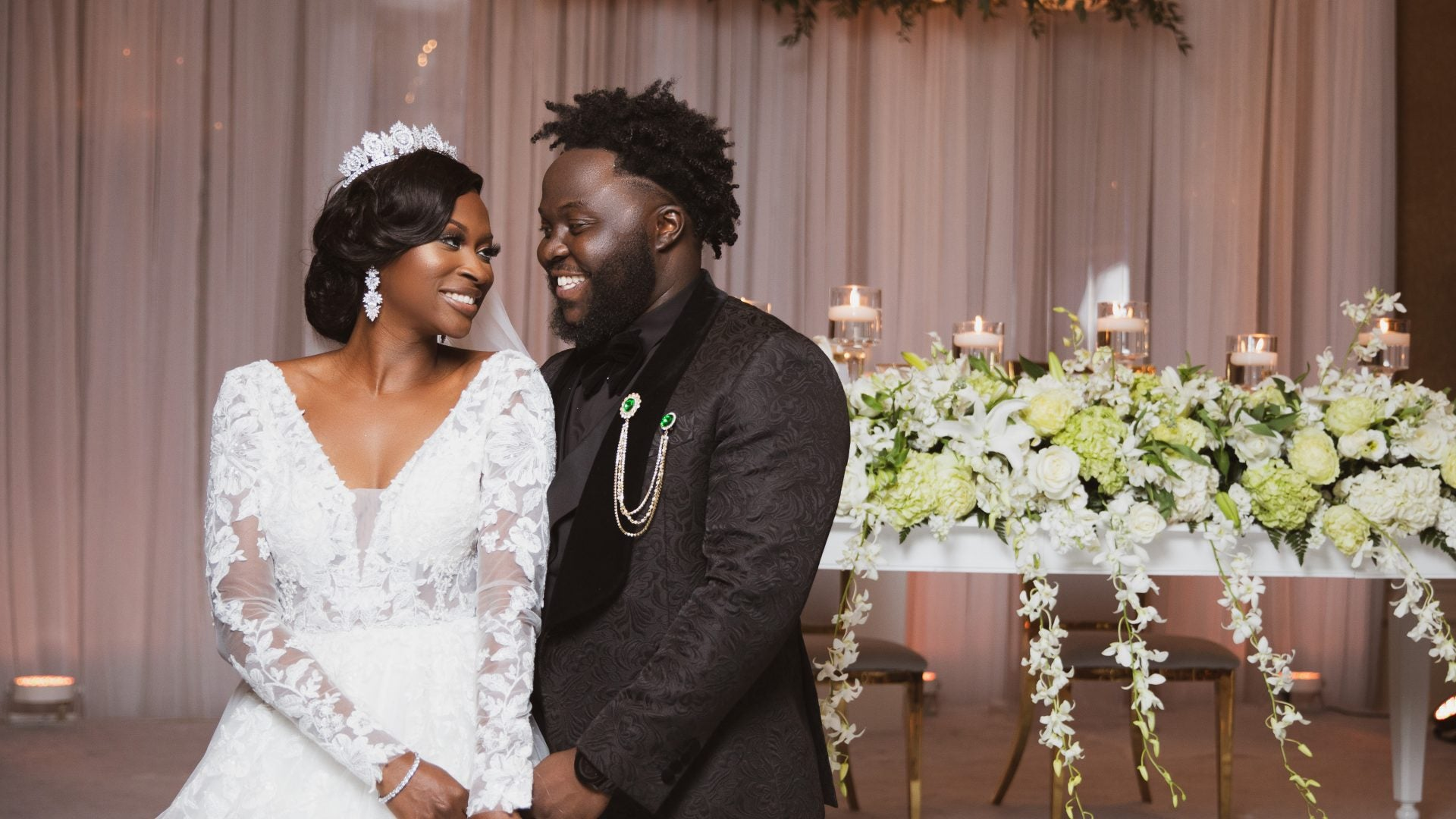 Lucile and Dorson's Romantic Winter Wedding