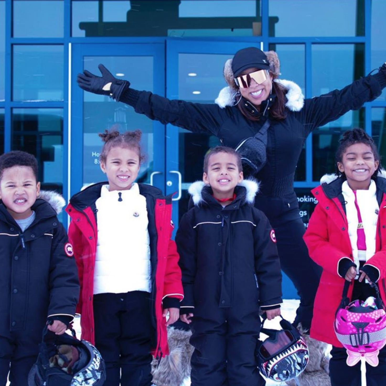 Marjorie Harvey's Glam-Ma Ski Adventure With Her Grandkids Is Cuteness Overload