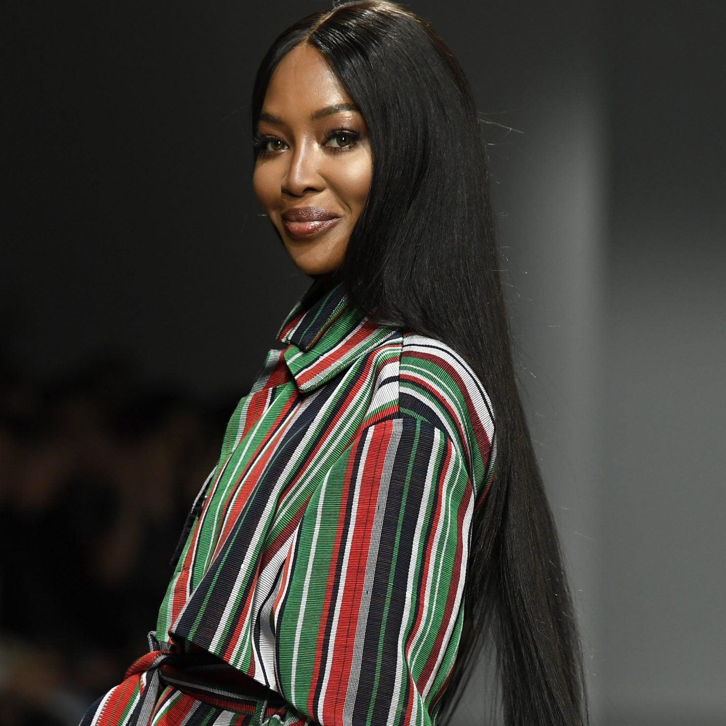 Naomi Campbell Walks Kenneth Ize's Paris Fashion Week Show