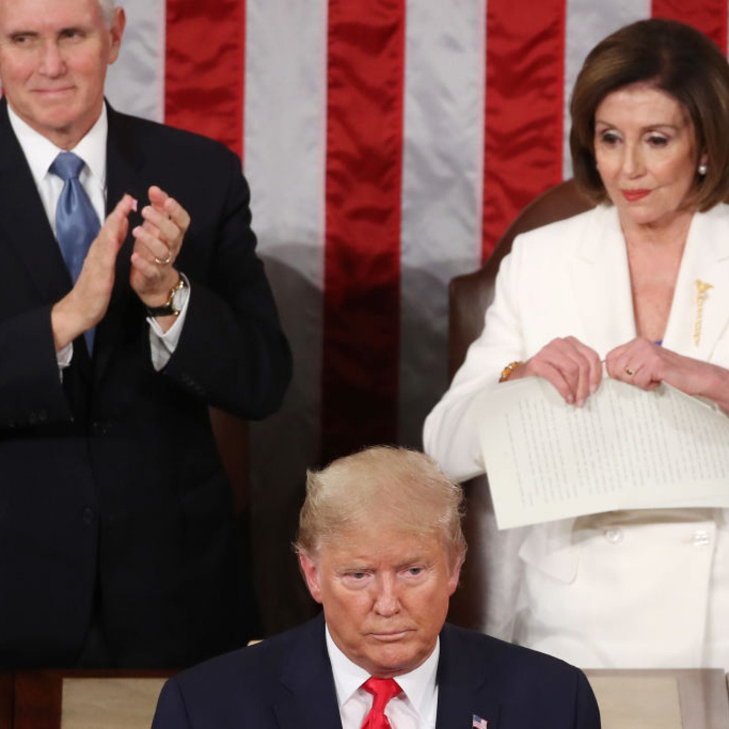 Nancy Pelosi Rips Up Trump's SOTU Speech