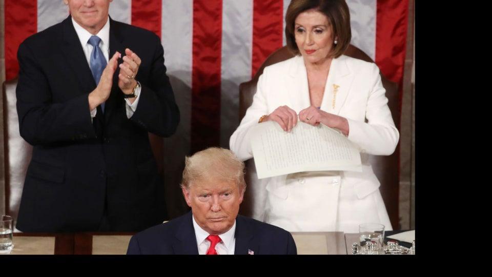Pelosi Rips Up Trump's SOTU Speech