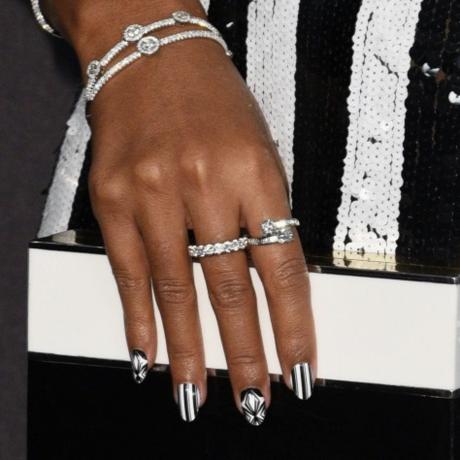 Get Into These Hot Black-And-White Nail Designs For Spring