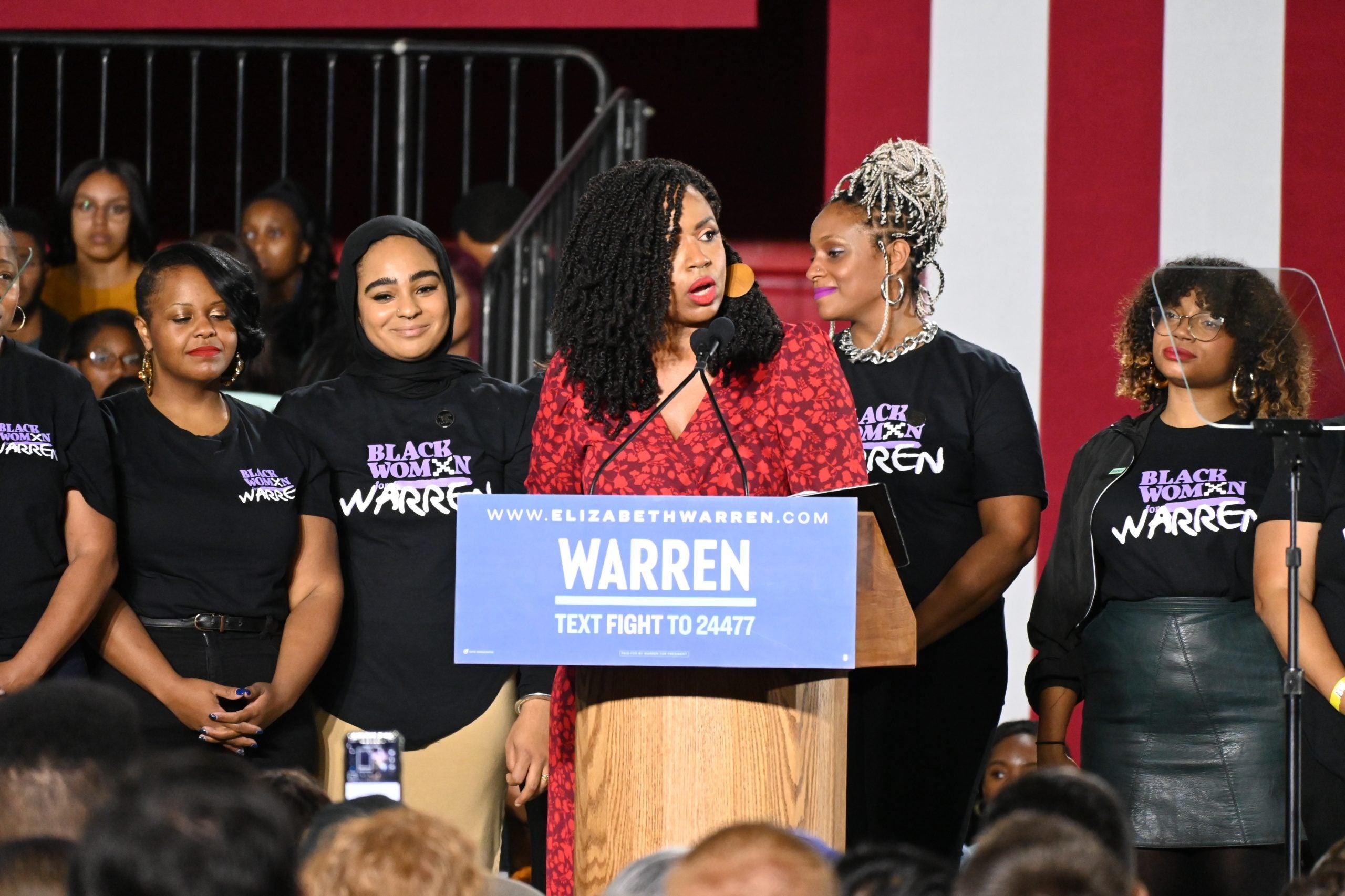 Black women endorse Sen. Elizabeth Warren for president.