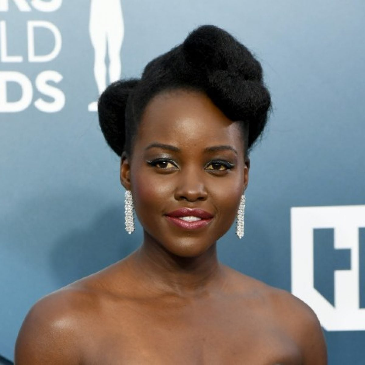 Lupita Nyong'o Stuns In Braided Bangs