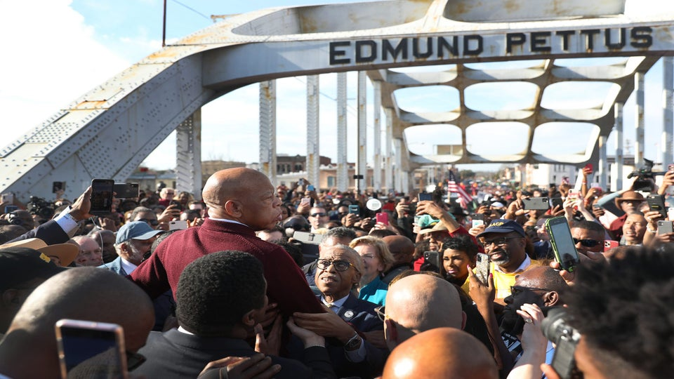John Lewis Makes Surprise Appearance At Bloody Sunday Commemorative March