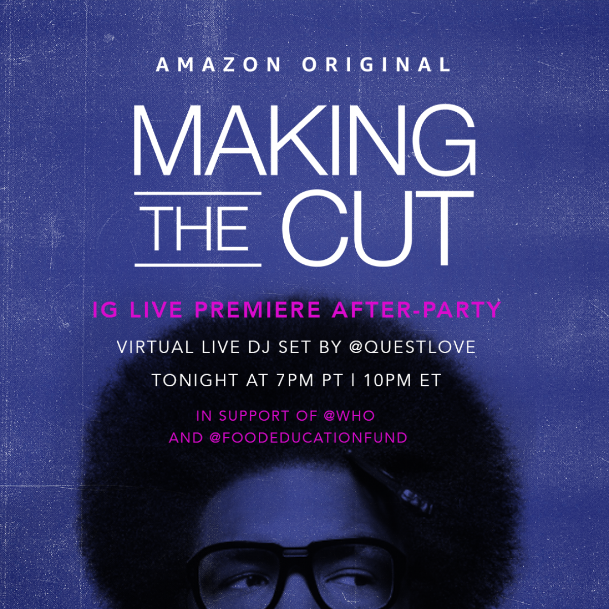 Naomi Campbell And Questlove Team Up For 'Making The Cut' Watch Party