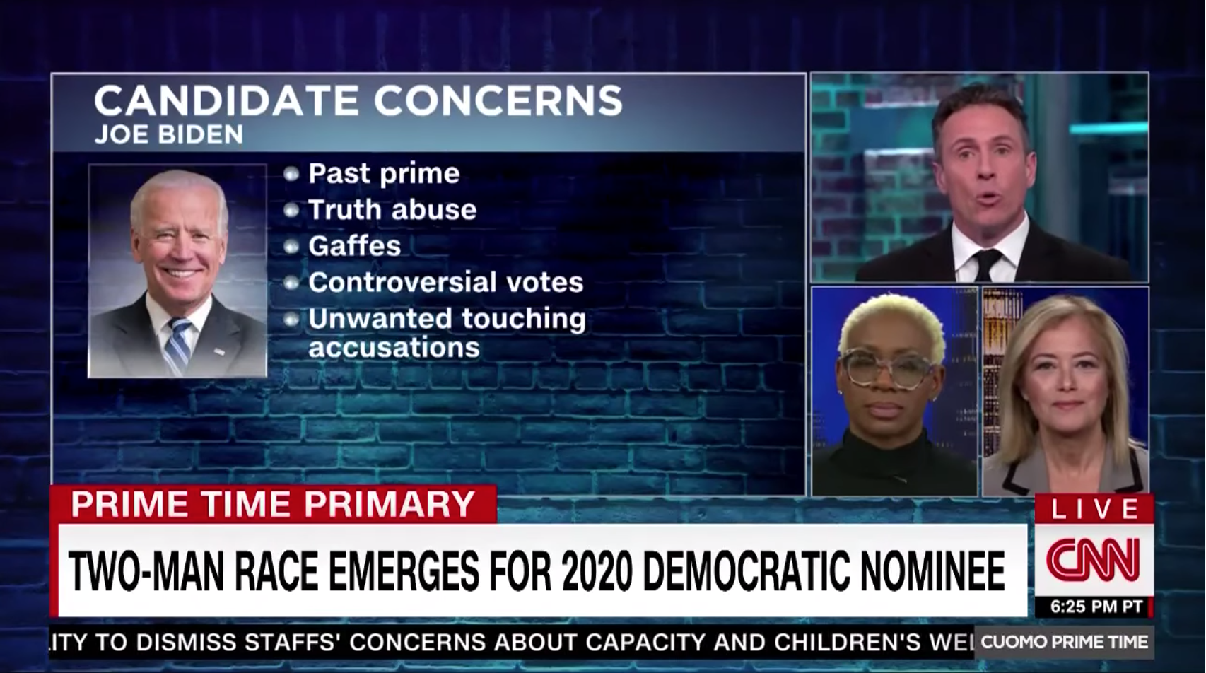 Nina Turner and Hilary Rosen on CNN's Cuomo Prime Time with Chris Cuomo