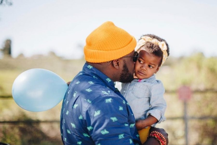 What I Double-Tapped This Weekend: This Cute Daddy-Daughter Headwrap Moment