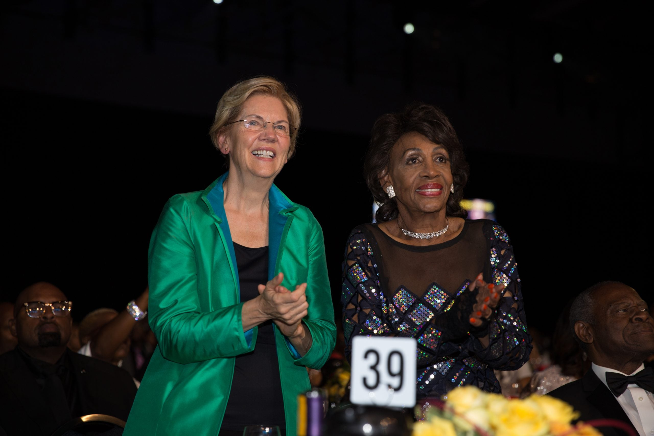 Elizabeth Warren and Maxine Waters- both members of Congress shared family members dealt with coronavirus in the hospital