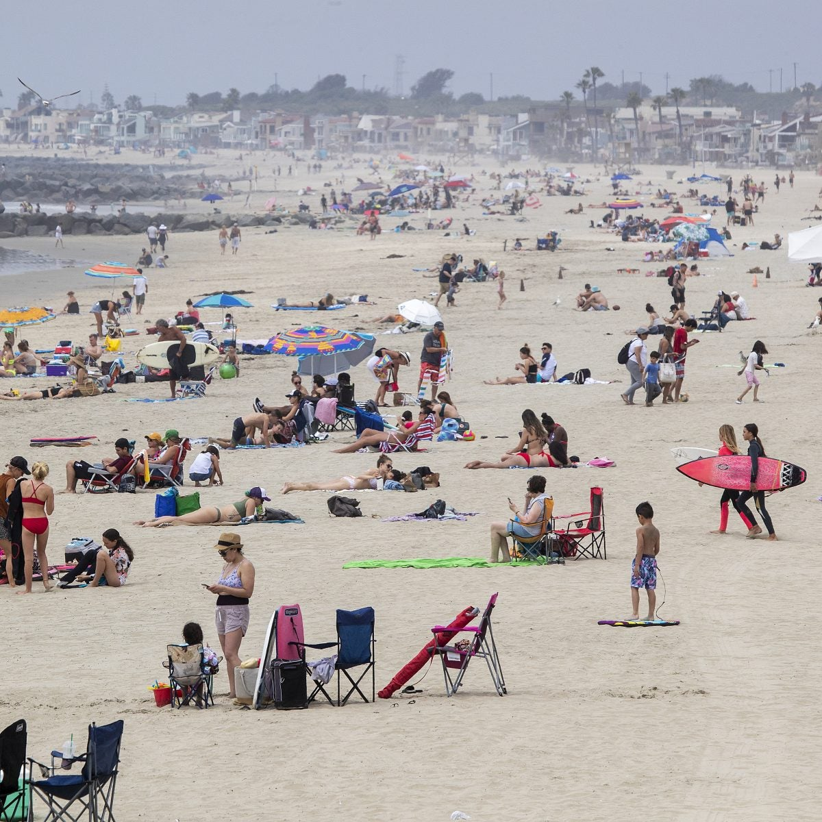 Two Orange County, California, Cities Move To Challenge Governor's Order Closing Beaches