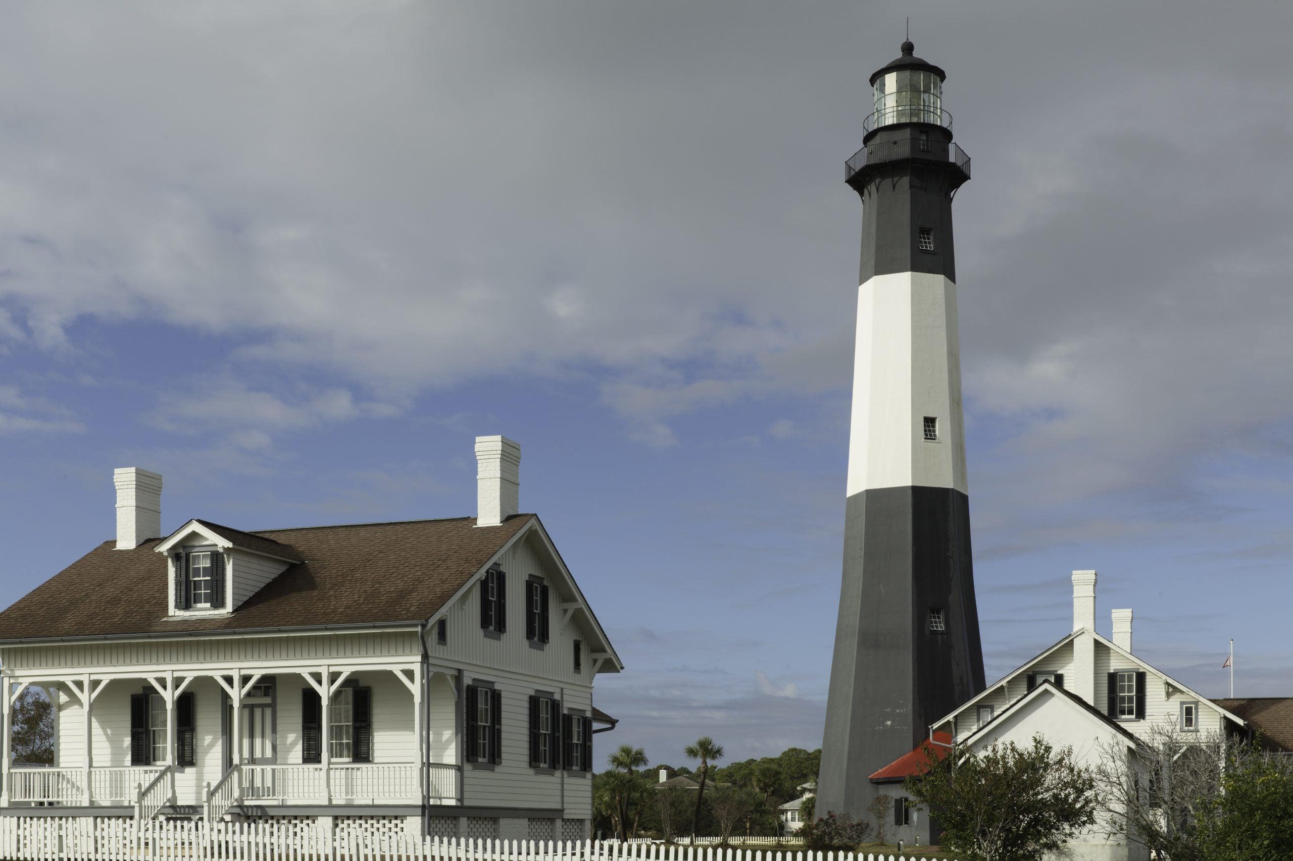 The Tybee Island Lighthouse in Savannah Georgia.
