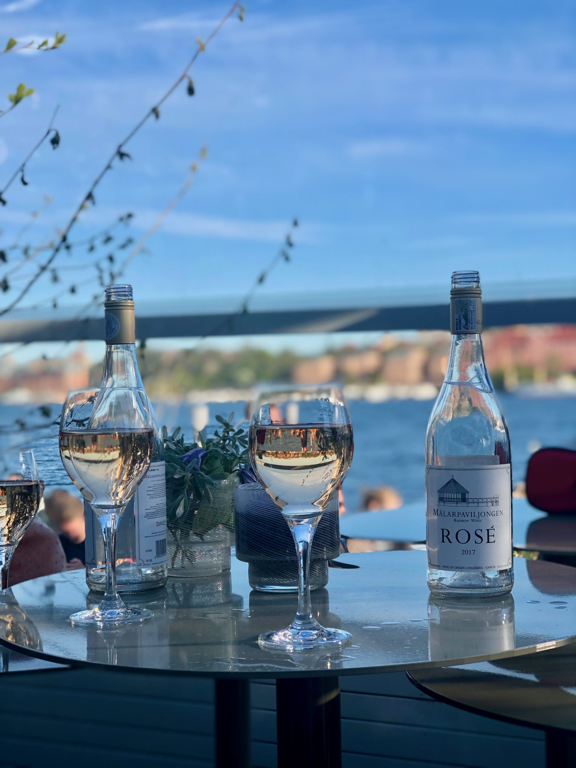 glasses of wine on a table in Stockholm