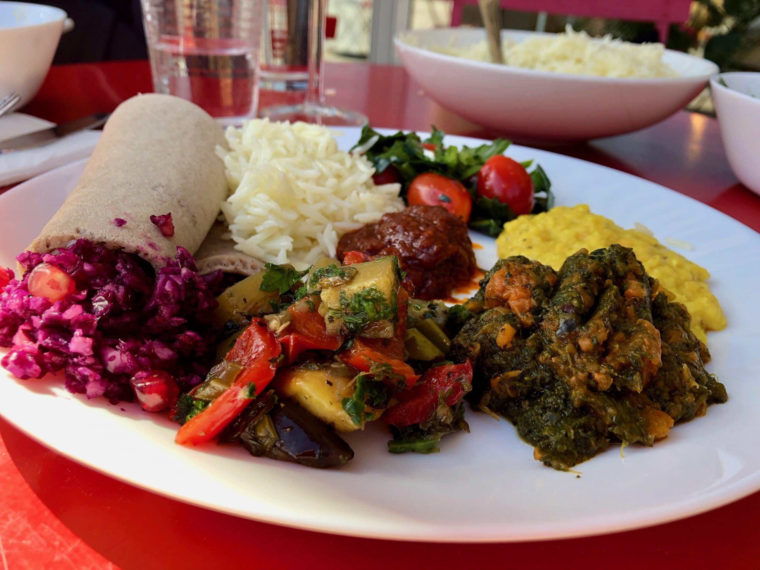 Eritrean dish made in Stockholm