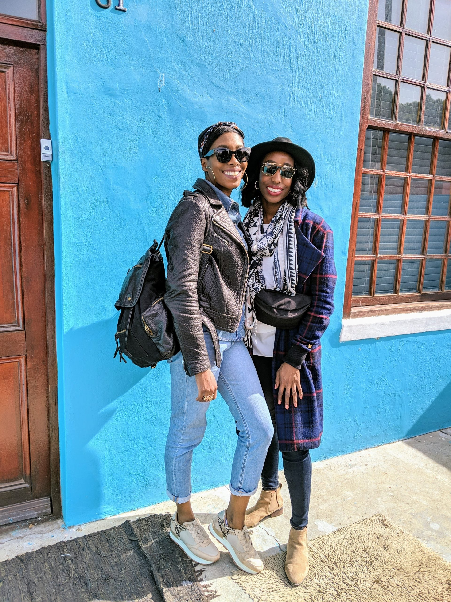 Sisters on street in Cape Town, South Africa