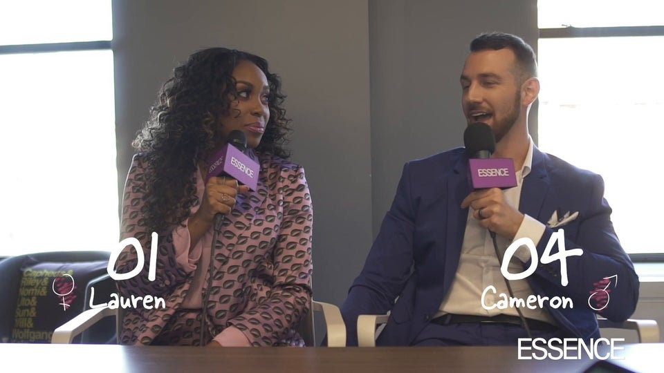 Watch Lauren And Cameron From 'Love Is Blind' Play The Newlywed Game