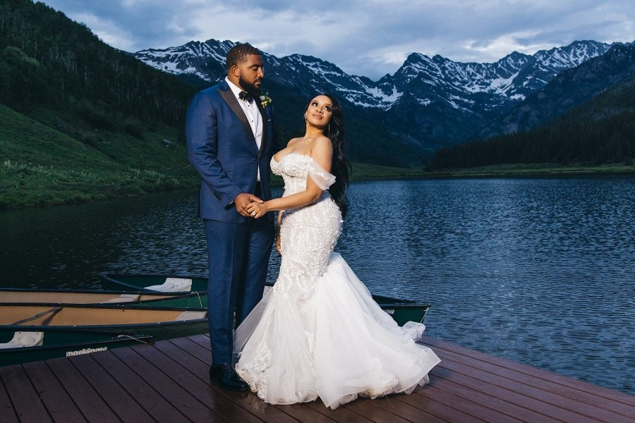 Bridal Bliss: Angel and Bobby's Luxury Mountain Wedding Made Our Jaws Drop