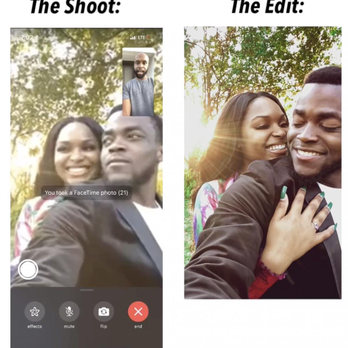 This Black Wedding Photographer Is Giving Couples Virtual Photoshoots During Coronavirus