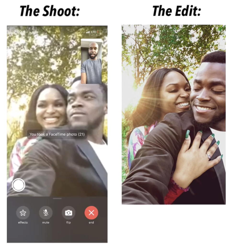 This Wedding Photographer Is Doing Virtual Photoshoots During Coronavirus