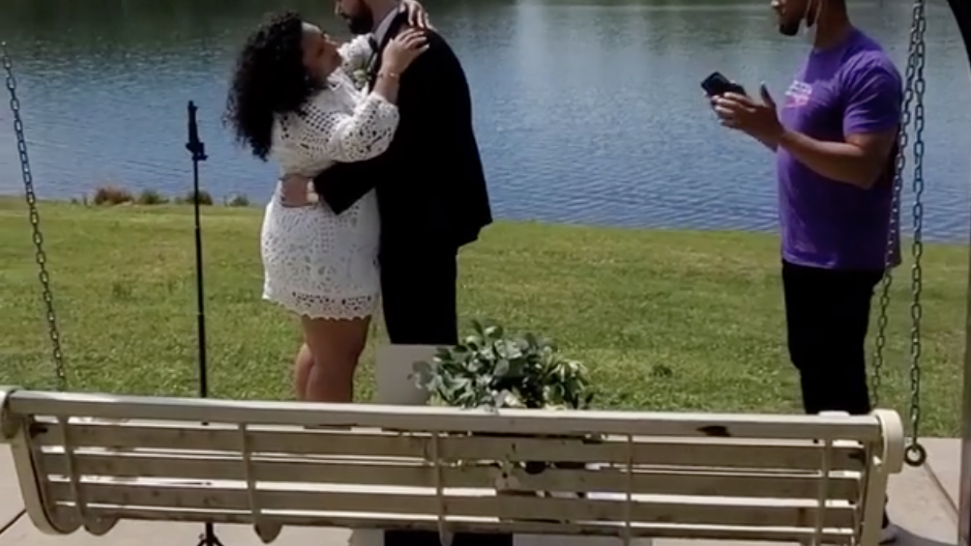 Watch: Singer Tony Terry Surprises Newlyweds Having A Quarantine Wedding In The Park