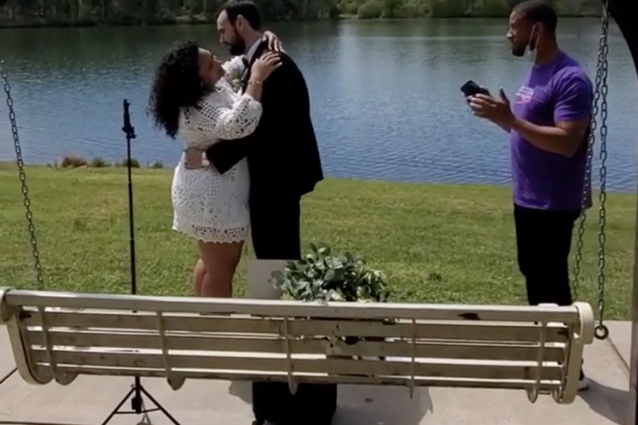 Watch: Man Sings Like An Angel For Newlyweds Marrying During Social Distancing
