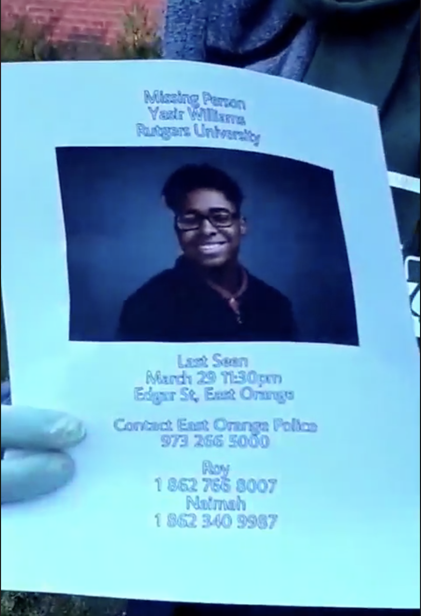 Missing person flyer for Yasir Williams