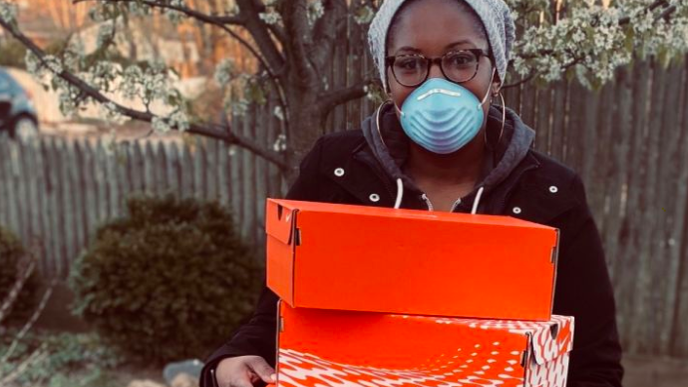Woman Launches Campaign To Provide Sneakers For Health Care Workers On The Front Lines of COVID-19