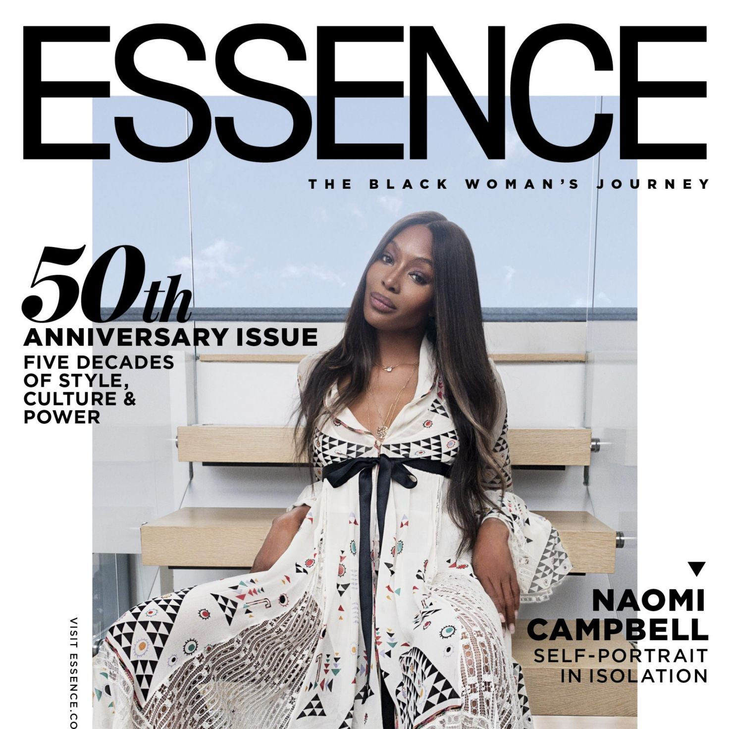Naomi Campbell Makes ESSENCE History As Her Own Photographer For Our 50th Anniversary Issue