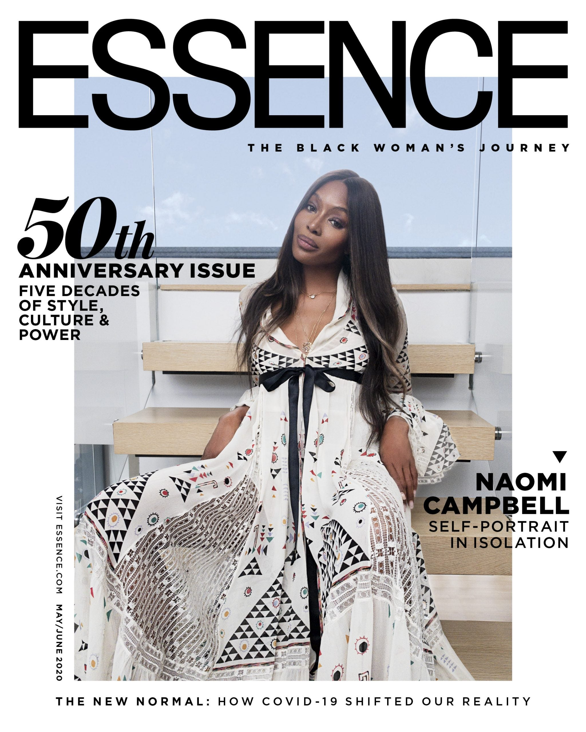 Naomi Campbell 50th Anniversary Cover