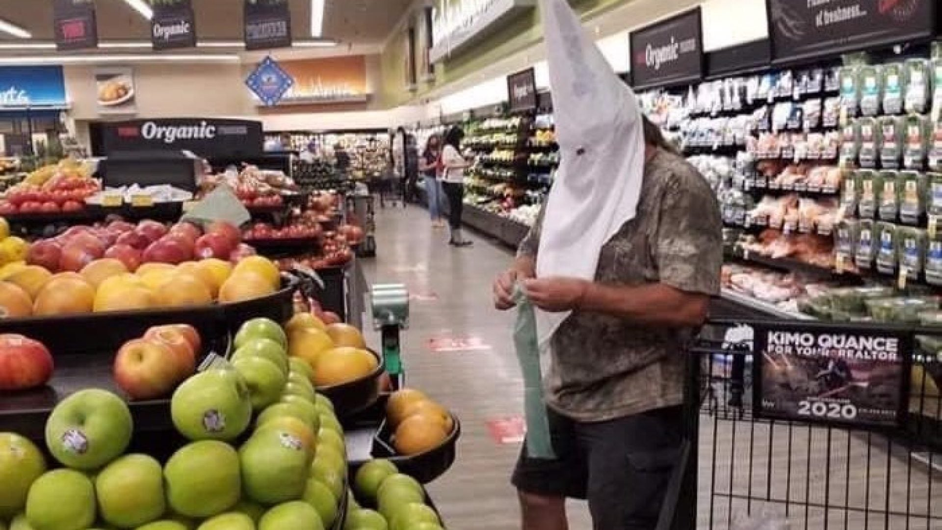 Sheriff's Department Investigating After Man Seen Grocery Shopping In KKK Hood