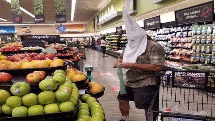 Man Who Wore KKK Hood While Grocery Shopping Won't Face Charges