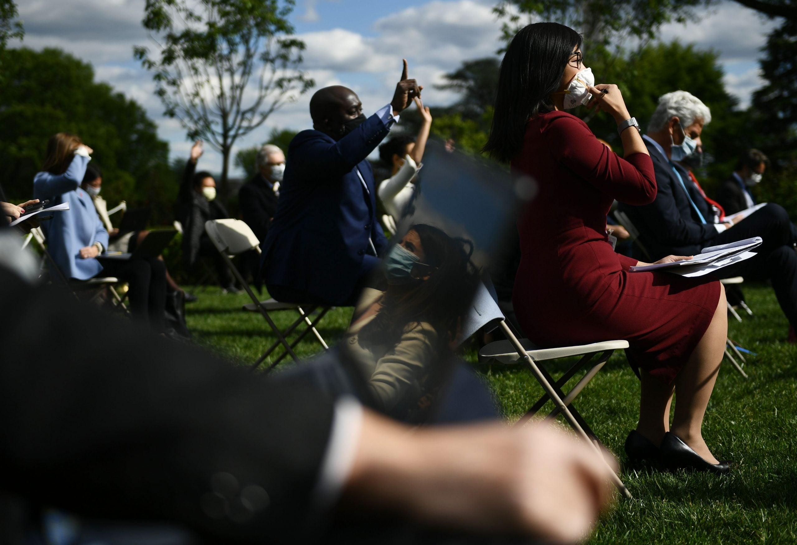 Weijia Jiang at White House press briefing