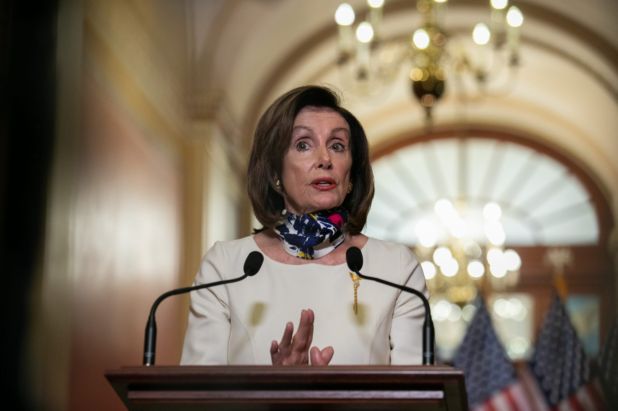 Nancy Pelosi speaks on HEROES Act weeks before the Republican stimulus proposal was unveiled.