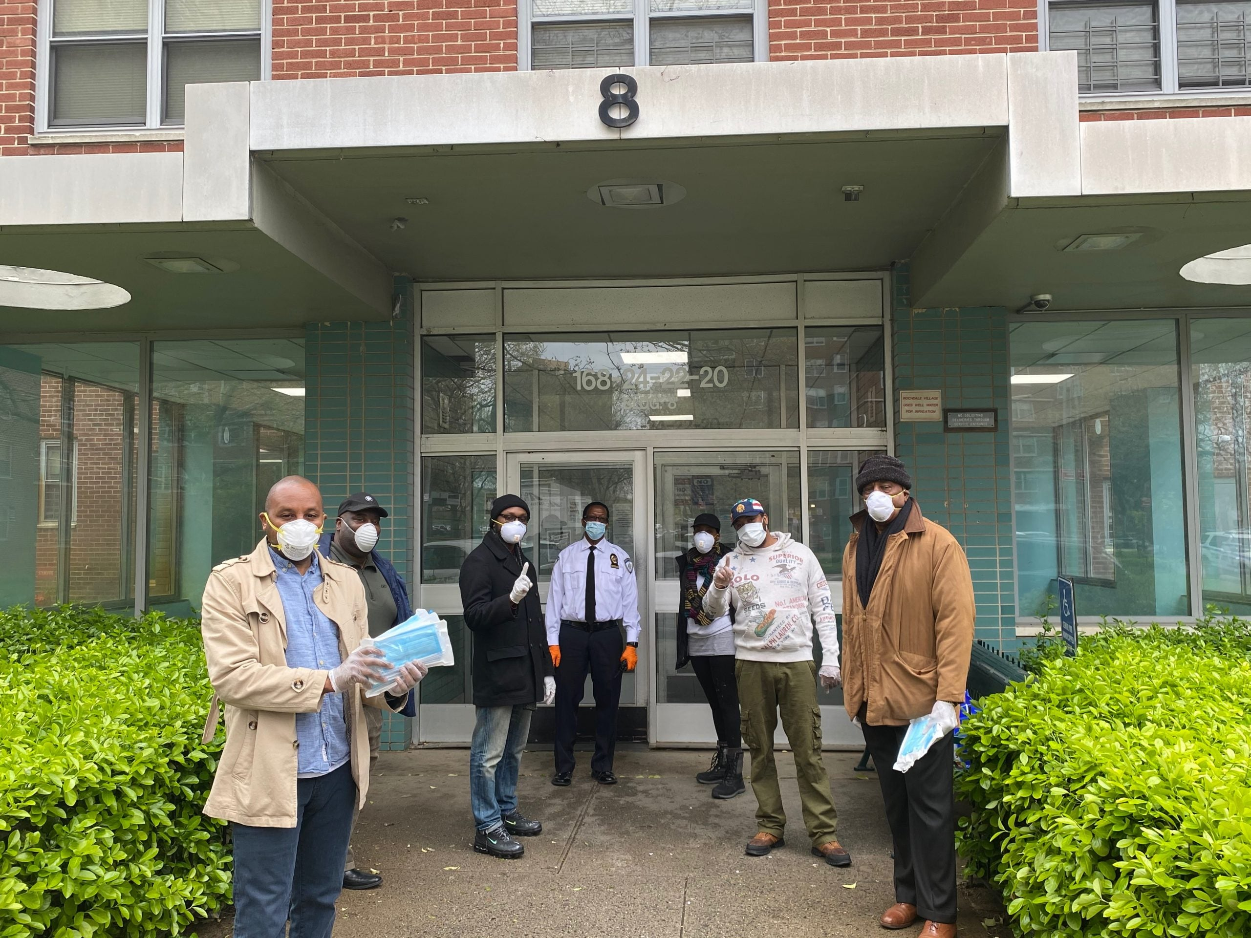 Members of OHBM donate masks throughout New York City