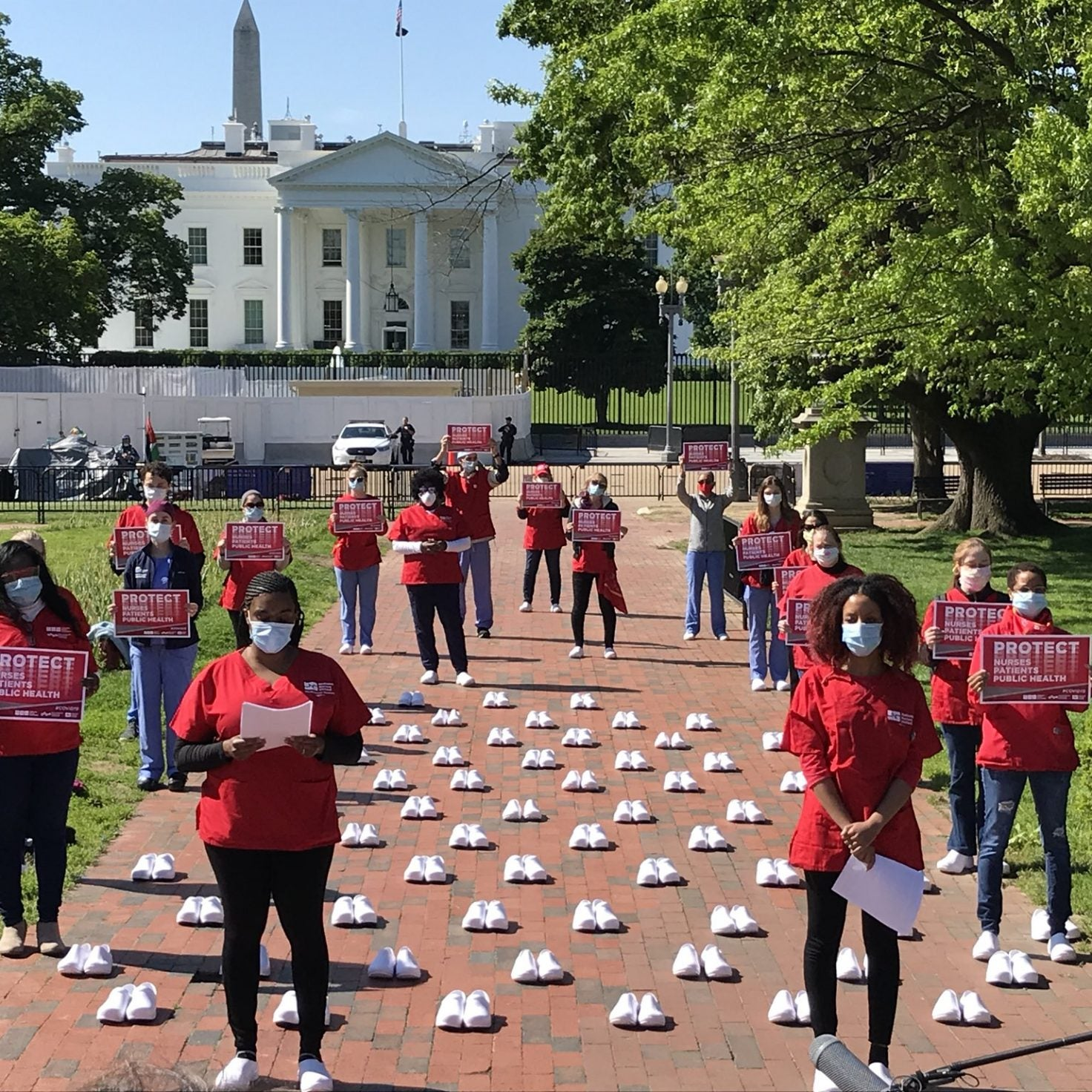 Nurses Rally At White House To Challenge Administration's Response To Coronavirus