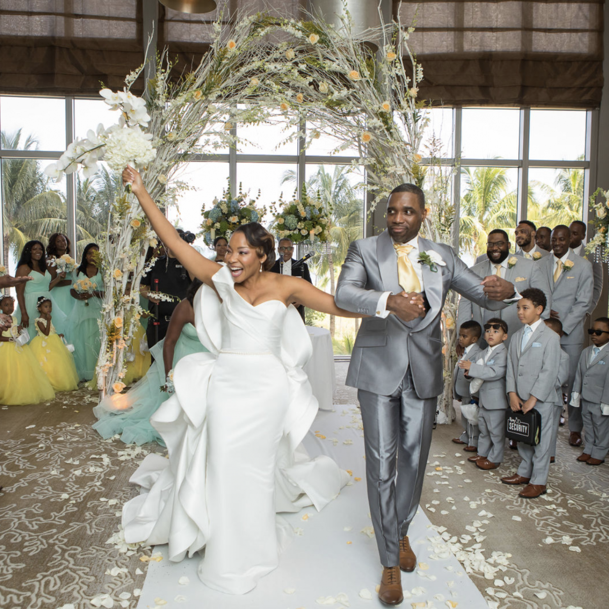 Bridal Bliss: Madeliene's Couture Wedding Dress Almost Stopped Time