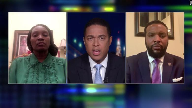 The mother of Ahmaud Arbery appears alongside family attorney S. Lee Merritt on CNN's Don Lemon Tonight