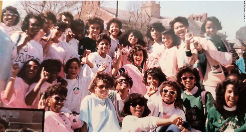 Kamala Harris with Alpha Kappa Alpha Sisters