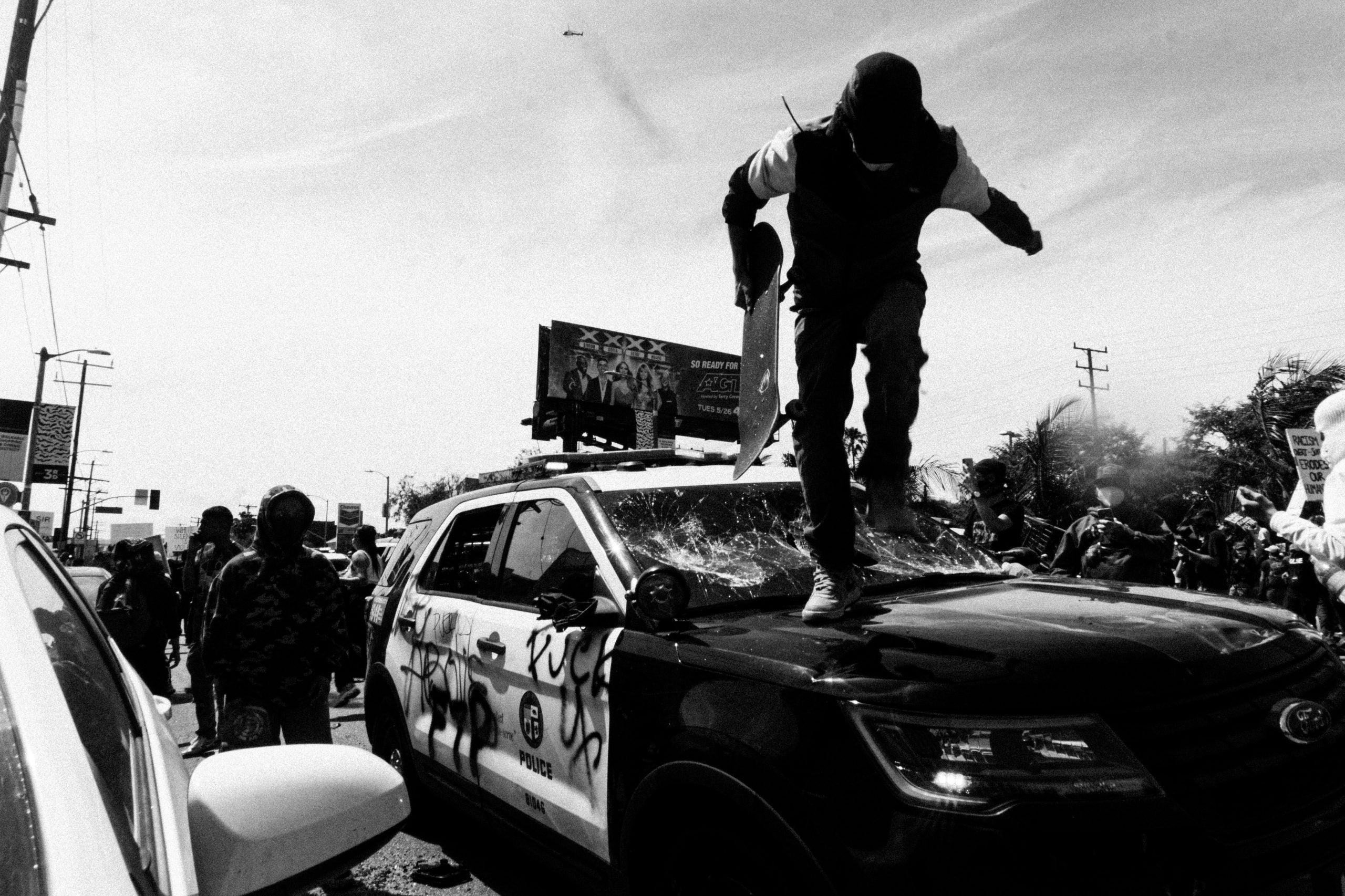 Bellamy Brewster captures West Hollywood protest