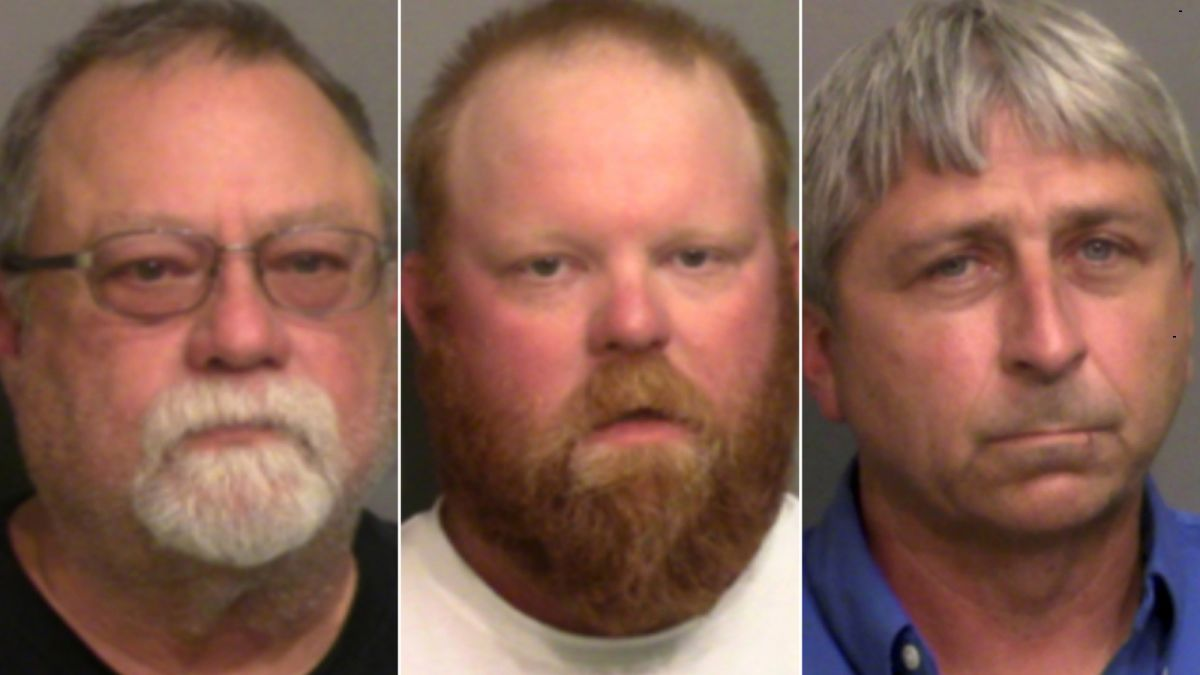 mugshots of three white men indicted on murder charges in case of Ahmaud Arbery