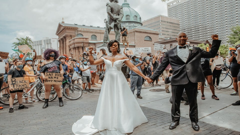 This Couple Said 'I Do' During The Black Lives Matter Protests