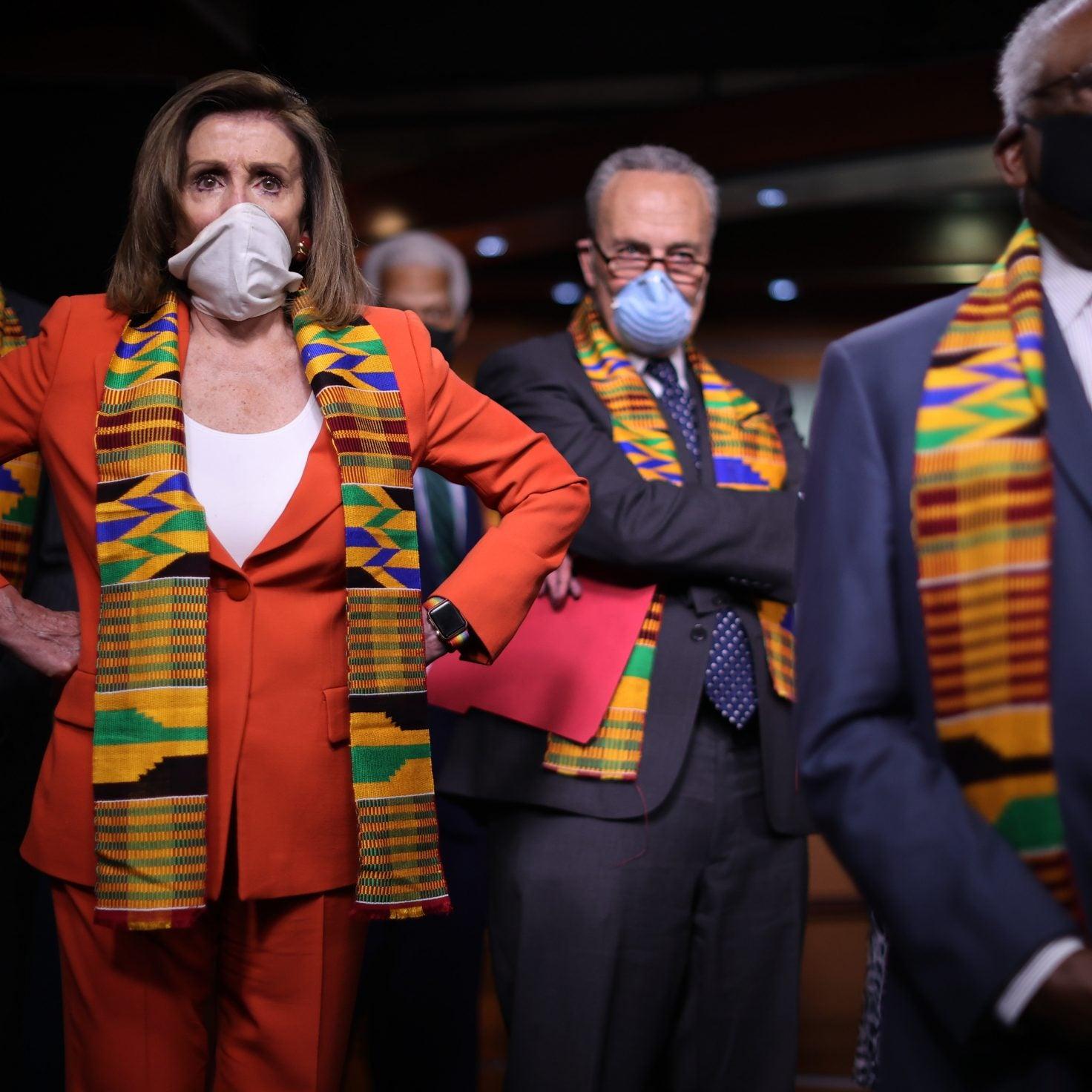 Donning Kente Cloth Congressional Democrats Unveil Police Reform