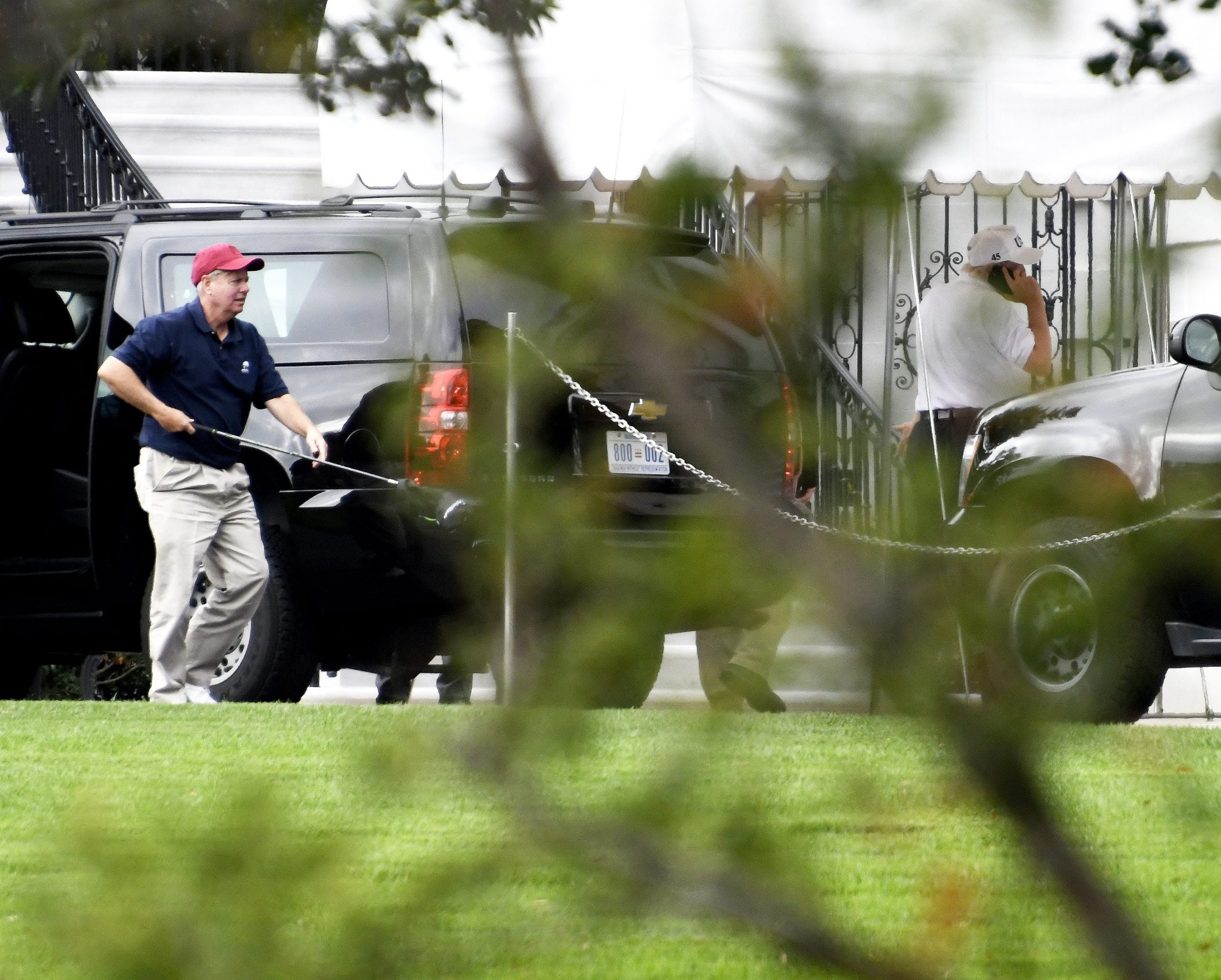 Lindsey Graham returns from golfing with his BFF Donald Trump
