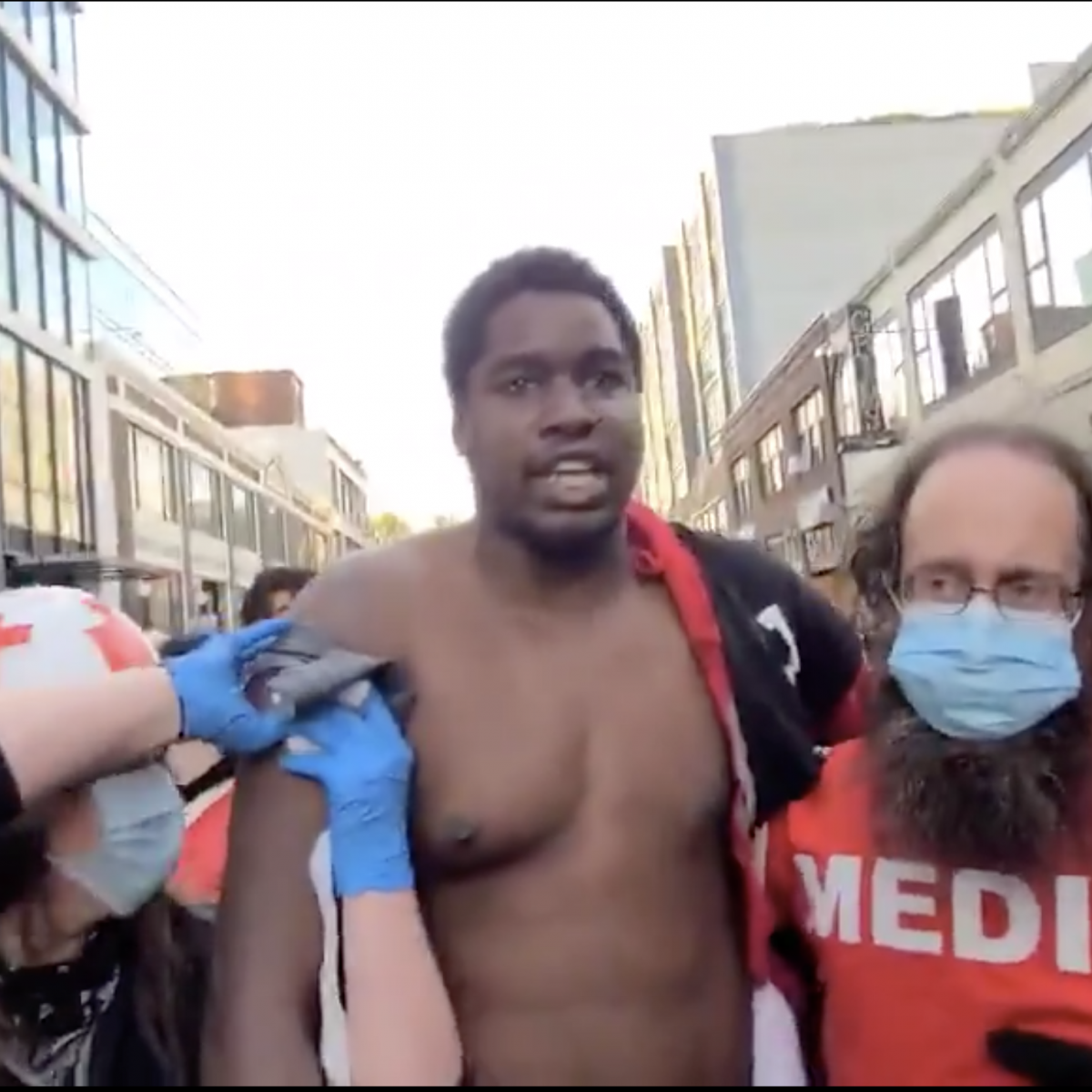 Black Demonstrator Hailed A Hero After Being Shot By Deranged Driver While Protecting Protesters