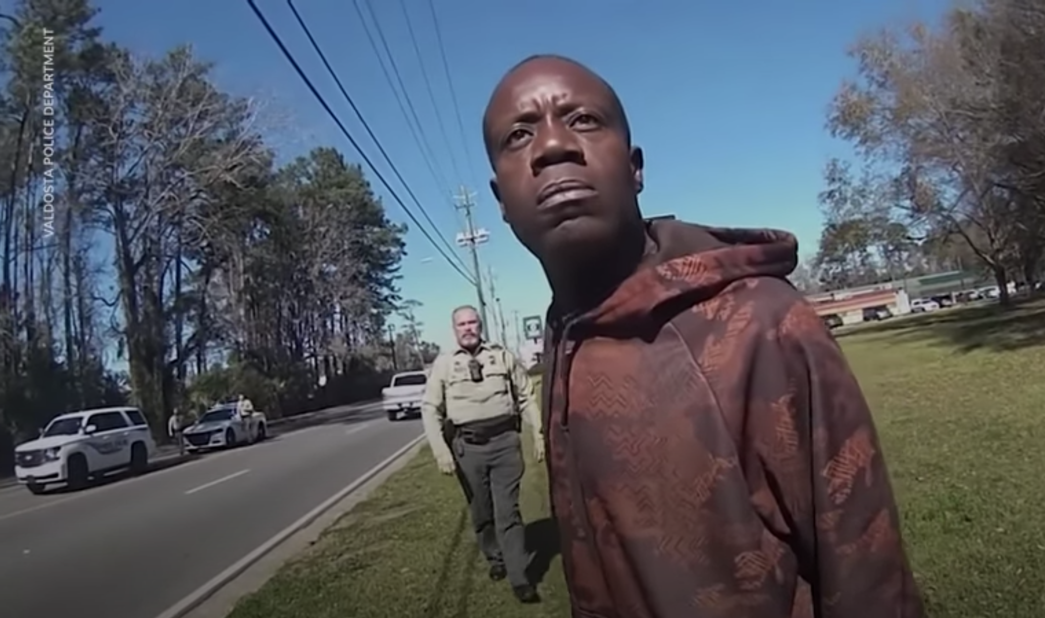 Antonio Arnelo Smith is approached by officers